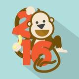 2016  Cute Monkey. Stock Image