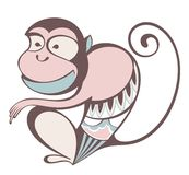 Cute monkey. Vector illustration  with cute monkey Vector Illustration