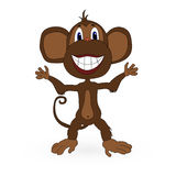 Cute monkey. Vector on a white. Cute monkey flat. Vector illustration on a white background Stock Illustration