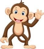 Cute monkey waving. Illustration of cute monkey waving stock illustration