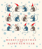 Cute Monkeys. Holiday card. Cute Monkey. Retro illustration Royalty Free Stock Photo