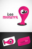 Cute Monster. Boo Monster. Vector EPS10 file included Royalty Free Stock Photo