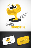 Cute Monster. Cookie Monster. Vector EPS10 file included Royalty Free Stock Photo
