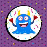 Cute Monster Birthday Card Stock Photos