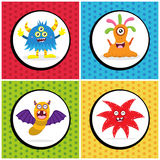 Cute Monster Birthday Card Royalty Free Stock Image