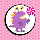 Cute Monster Birthday Card Stock Photo