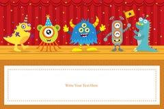 Cute Monster birthday card Stock Photo