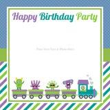 Cute monster birthday invitation Royalty Free Stock Photos