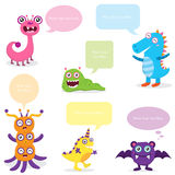 Cute Monster Bubble Speech Stock Photo