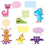 Cute Monster Bubble Speech Stock Photo