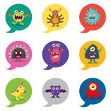 Cute Monster bubble speech Royalty Free Stock Photo