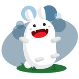 Cute Monster Bunny Stock Photo