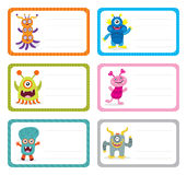 Cute Monster Card Stock Photography
