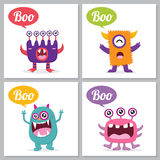 Cute Monster card Royalty Free Stock Image