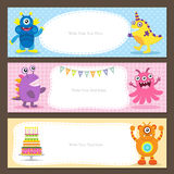 Cute Monster card Stock Images
