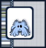 Cute monster card. Royalty Free Stock Photo