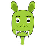 Cute monster cartoon face Stock Photo