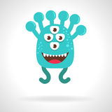 Cute monster. Cartoon. Illustration, flat style. Vector illustration on white background. Character Stock Images