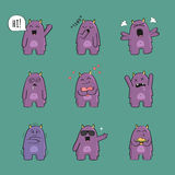 Cute monster character set Royalty Free Stock Photography