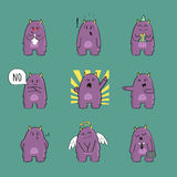 Cute monster character set Stock Photography