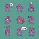 Cute monster character set Stock Images