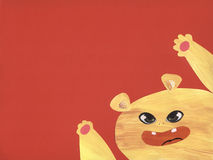 Cute monster - collage Stock Photography