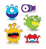 Cute Monster Collection Set Stock Image