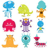 Cute Monster Collection Set Royalty Free Stock Photo