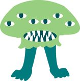 Cute monster color character funny design element stock illustration