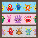 Cute monster decoration Stock Photography