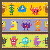 Cute monster decoration Royalty Free Stock Image