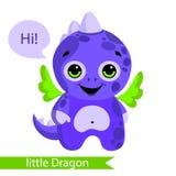 Cute monster, dragon, dinosaur cartoon. Vector illustration Royalty Free Stock Photos