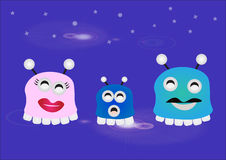 Cute monster family Royalty Free Stock Photos