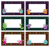 Cute Monster Frames templates Stock Photo