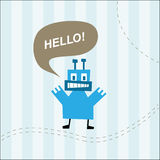 Cute monster  greeting card Stock Photos