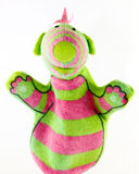 Cute monster hand puppet Stock Image