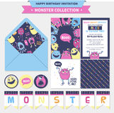 Cute monster  illustration. Stock Photography
