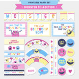 Cute monster  illustration. Royalty Free Stock Image