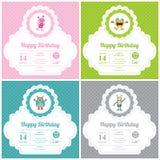 Cute Monster Invitation Birthday Card Stock Photos