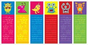 Cute Monster Invitation Birthday Card royalty free illustration