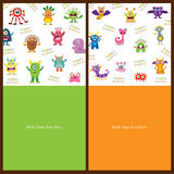 Cute Monster invitation Stock Photography