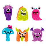 Cute Monster Mascot Characters Stock Photo