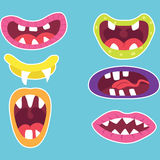 Cute Monster Mouth Stock Photos