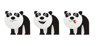 Cute monster panda Stock Image