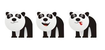 Cute monster panda. 3 little cute monster pada Stock Image