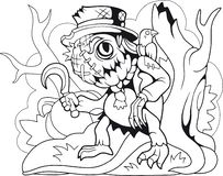 Free Cute Monster Scarecrow Coloring Book Funny Illustration Stock Photo - 145125940
