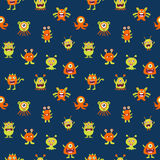 Cute Monster Seamless Royalty Free Stock Images