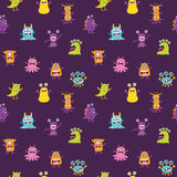 Cute Monster Seamless Royalty Free Stock Image