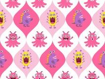 Cute monster seamless Stock Image