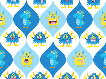 Cute monster seamless Royalty Free Stock Photo